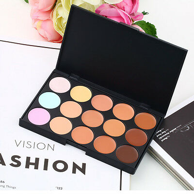 15 Colors Professional Salon/Party Contour Face Cream Makeup Concealer Palette E