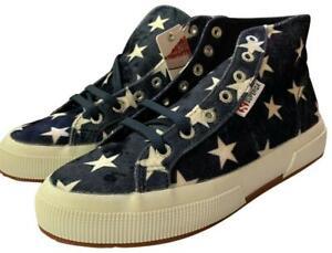Women Navy Velvet Star 2795 High