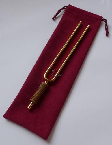 """OM Stimmgabel 136,1 Hz /""""Ergo/"""" Gold beschichtet Planetenstimmgabel tuning Fork"""