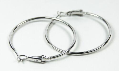 Para mujeres blanco de 14 Quilates Oro Lleno Grande Aro Pendientes de la joyería de 3.6cms de diámetro