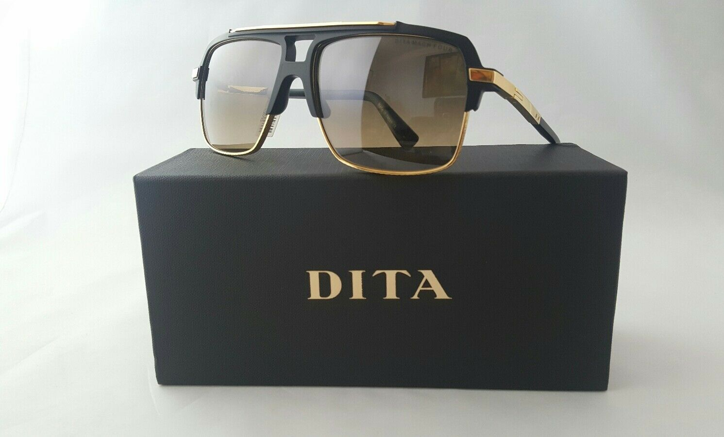 8daee70cc97 DITA Mach Four DRX 2070 a BLK GLD 61 Sunglasses With Case 61mm for ...