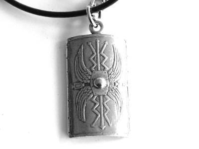 Labrador PP-D08 English Pewter Emblem on a Black Cord Necklace Handmade