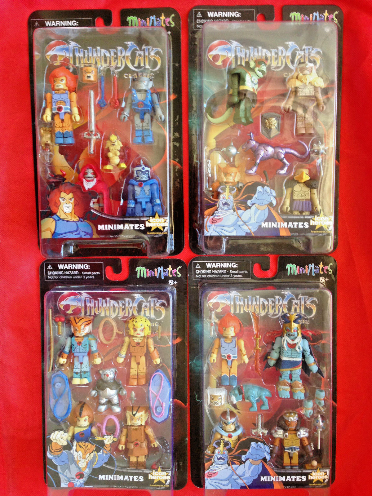 Thundercats Classics Series  1, 2, 3, 4 LION-O TYGRA MUMM-RA Minimates SDCC Lot