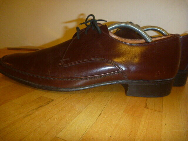 CLUBMAN BY EATON SIZE MADE IN ENGLAND ITALIAN LEATHER SHOES HAND FINISHED