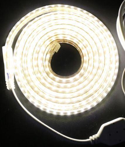 Commercial Câble Lumière SMD étanche IP67 bande DEL 3014 SMD Lumière 60 DEL/M AC 220 V 240 V 2f0e5b