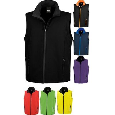 Mens Result Softshell Colour Sleeveless Gilet Top