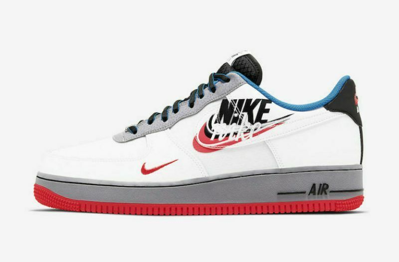 Nike Air Force 1 High '07 Sneakers bianche con logo Nike grigio