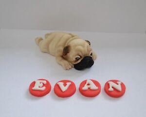 Fantastic Handmade Personalised Large Edible Pug Dog Birthday Cake Funny Birthday Cards Online Bapapcheapnameinfo