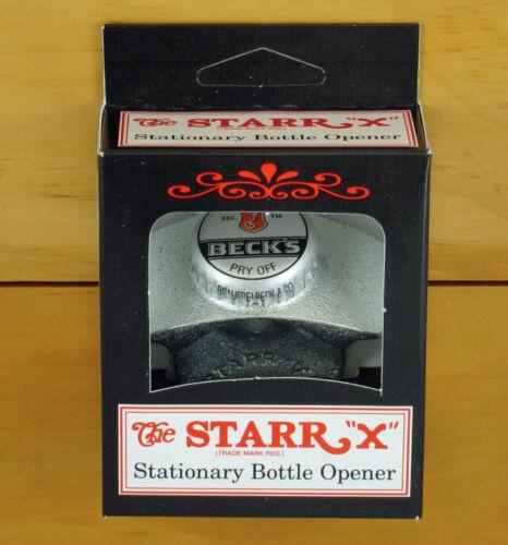 Beck/'s Beer BOTTLE CAP Starr X Wall Mount Stationary Bottle Opener NEW!!
