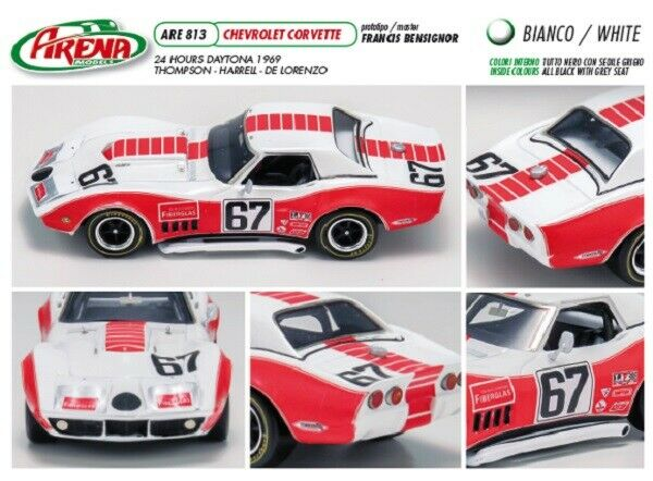 kit Corvette C3 Team Owens Corning  67 Daytona 1969 - arena Modellls kit 1 43