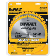 DEWALT DW3106P5 60-Tooth Crosscutting and 32-Tooth General Purpose 10-Inch Saw Blade Combo Pack