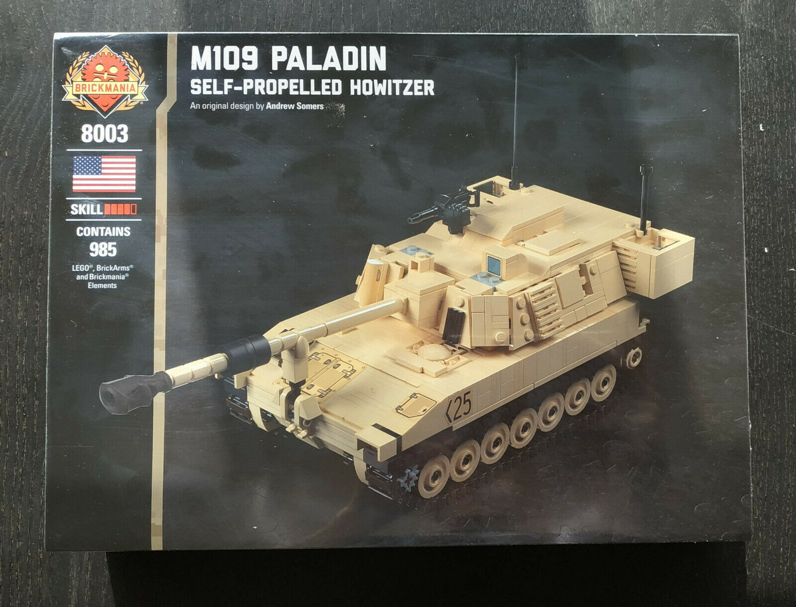 Brickmania M109 Paladin- Self-Propelled Howitzer-brand Howitzer-brand Howitzer-brand new fff
