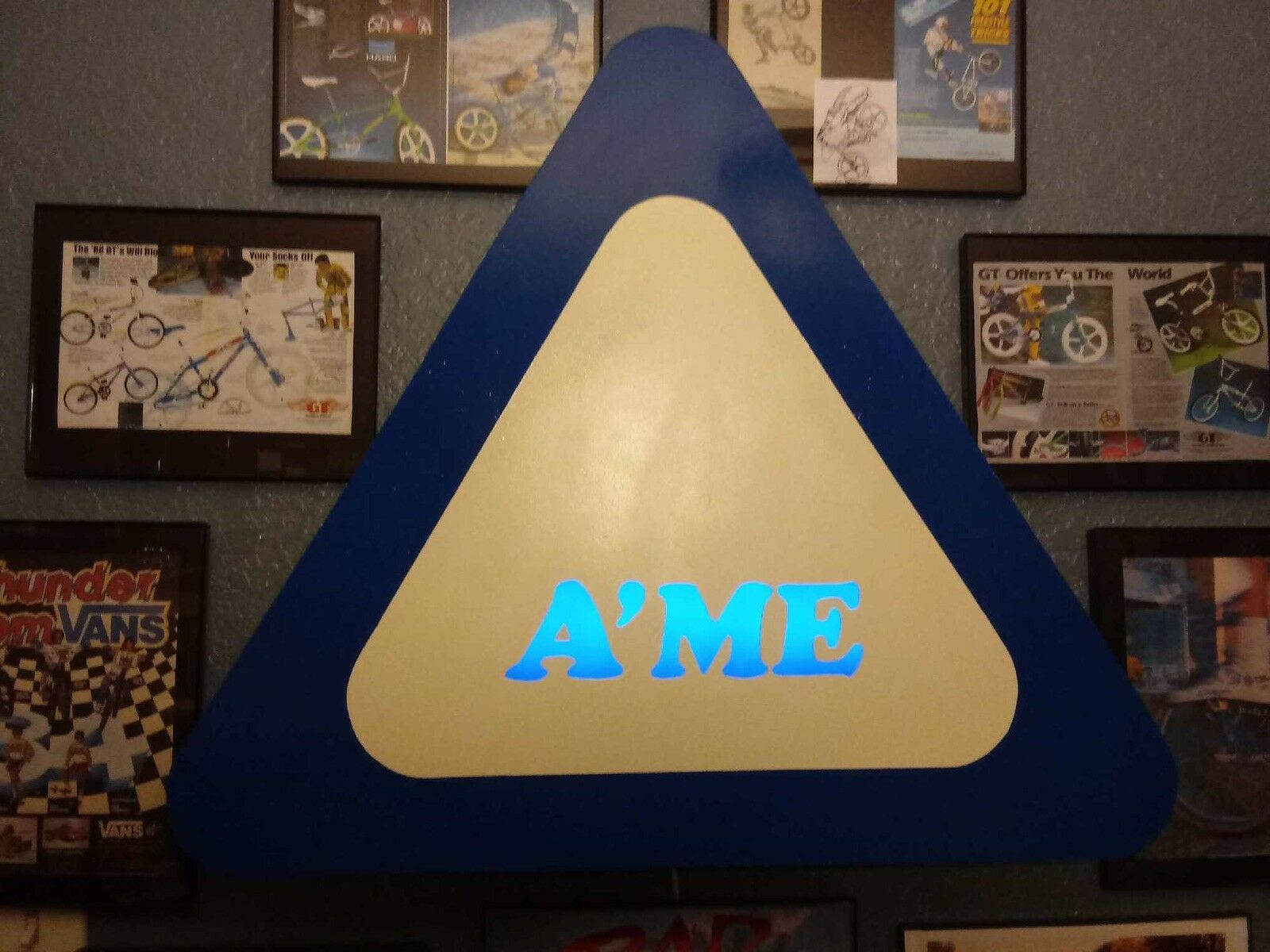 A'ME Tribute Lighted Sign BMX, GT, HARO, REDLINE,HUTCH, Old School FREE Shipping