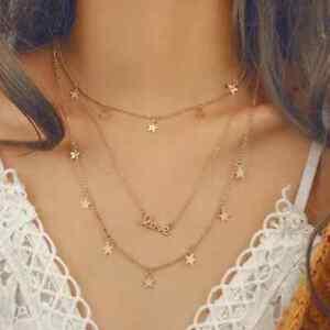 Collana-donna-con-stelle-girocollo-in-acciaio-stelline-collanina-necklace