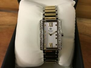 Ladies-Silver-amp-Yellow-Gold-Royal-London-Watch-on-Bracelet-21290-05-RRP-89-99