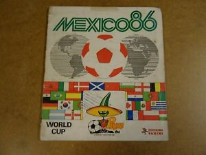 FOOTBALL-PANINI-ALBUM-COMPLETE-WORLD-CUP-MEXICO-1986