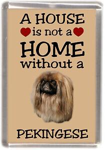 PEKINGESE a House Is Not A Home FRIDGE MAGNET Dog