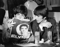 The Beatles Paul Mccartney And George Harrison 1964 Photo 13x19