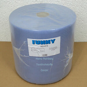 1-Putztuchrolle-36cm-3lagig-1000-Abr-FUNNY-Putzpapier-Putztuchrollen-Putztuecher