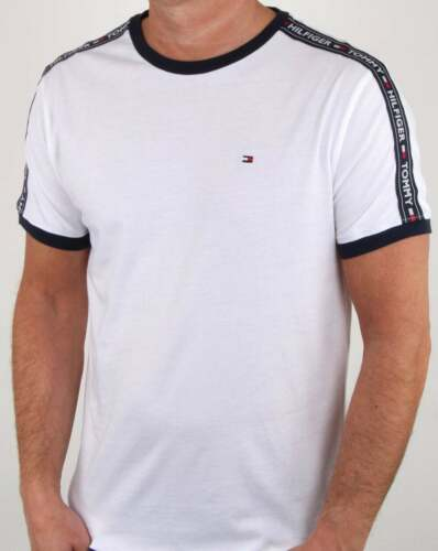 short sleeve tee Tommy Hilfiger Jeans Tommy Hilfiger Taping T Shirt in White
