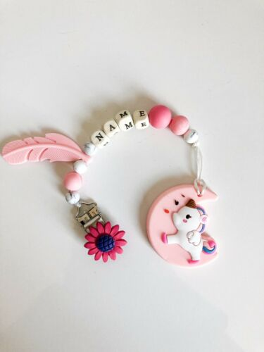 Baby Personalised Dummy Clip