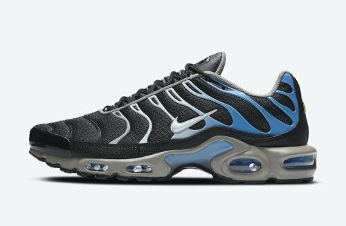 Nike sintonizado 1 Hombre Negro Blanco Azul Zapato Zapatillas de deporte Entrenador UK Size 6-12