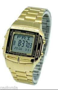 b72b41741c6 Casio DB360G-9A Mens Multi Lingual Gold Stainless Steel Digital Data ...