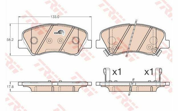 4x TRW Plaquettes de Frein Avant GDB3548 - Pièces Auto Mister Auto