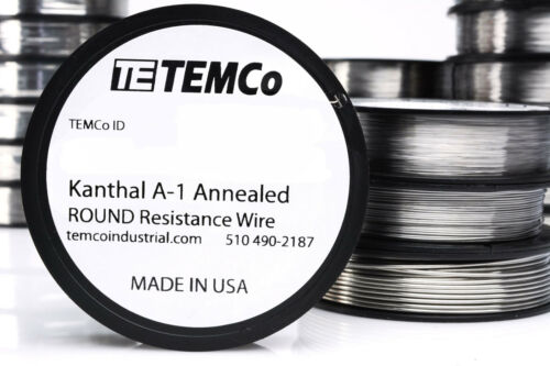 TEMCo Kanthal A1 wire 25 Gauge 50 Ft Resistance AWG A-1 ga