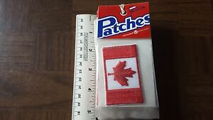 Canada Red Maple Leaf Flag Voyager Travel Souvenir Patch - New - Free Shipping!