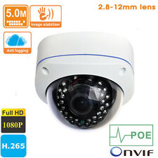5MP H.265 HD 1080P Outdoor Vandal-Proof 2.8-12mm lens POE IP Camera