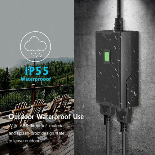 Google Home Assistan Cinbos Wi-Fi Plug with 2 Sockets Alexa Outdoor Smart Plug