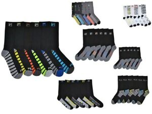 6-Pairs-Fila-Men-039-s-Athletic-Classic-Sport-Absorb-Dry-Gym-Crew-Socks-Size-6-12