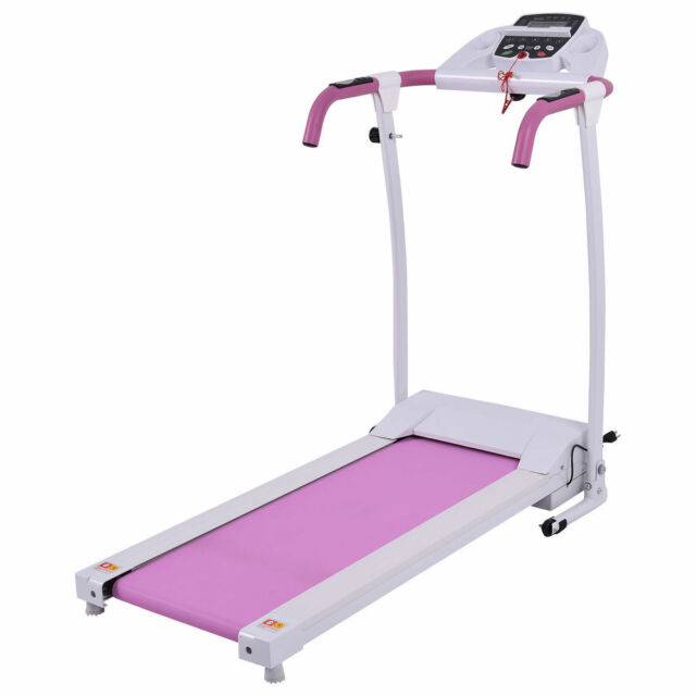 15a464e9421 800W Folding Electric Treadmill Running Walking Fitness Machine Low Noise  Pink