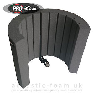 afms acoustic foam microphone isolation screen reflection filter arc shield 799975601571 ebay. Black Bedroom Furniture Sets. Home Design Ideas