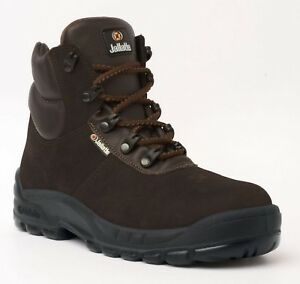 38c8ab1f533 Details about SIZE 9 JALLATTE JALHUSKEY STEEL BROWN SUEDE LEATHER SAFETY  TOE CAP WORK BOOTS