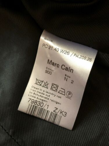 Marc 36 Cain Gr Mantel Trench Neuw Coat Schwarz Top Trench N2 q14rqxP