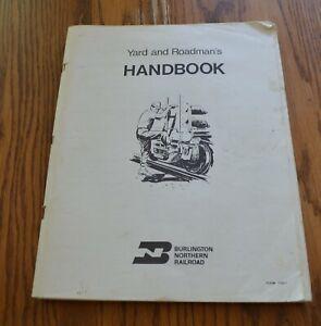 Vintage-Burlington-Northern-Yard-amp-Roadman-039-s-Handbook-167-pages