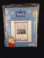 Counted Cross Stitch Kit Pooh Friends Too Much Honey Sampler Leisure Arts 34004