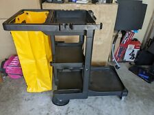 Commercial Cleaning Cart Zippered Yellow Vinyl Bag Heavy Duty Janitor Janitorial