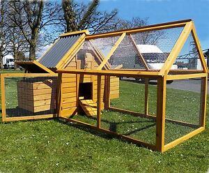 Chicken coop run hen house poultry nest box coops rabbit for Maintenance free chicken coop