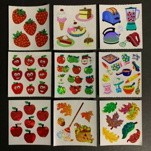 Sandylion Vintage Stickers Strawberry Apples Kitchen Appliances Dessert Pie Leaf