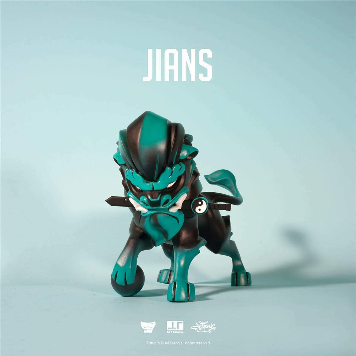 Jians green 19.1cm Largo Figura por JT Studio