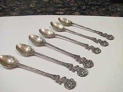 Six Spoons MB2 800 Sterling Rose Demitasse Spoon(s)