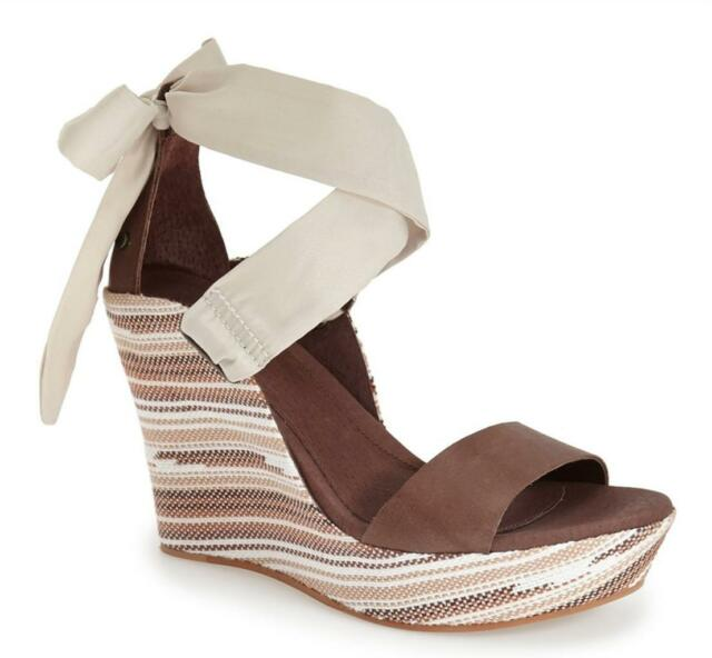 ab44bbe8baed UGG Australia Jules Serape Platform Wedge Sandals in Chocolate Size ...