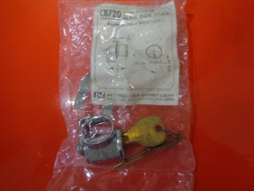 Dura Steel Mail Box Lock /& Keys 5-Pin Tumbler NEW FC720 National C8720