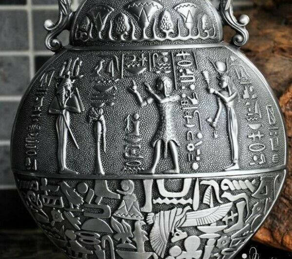 Ancient Egypt classical flowers vases alloy metal vases for flowers