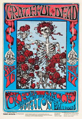 GRATEFUL DEAD GARY KROMAN ART 3023 SKELETON BRIDE POSTER 24x36