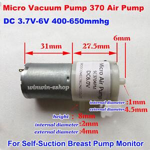 Details About Dc 3v 6v 5v Mini 370 Air Pump Vacuum Pump Self Suction Breast Pressure Pump Diy
