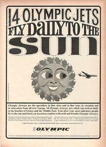 1966-Original-Advertising-039-Vintage-Olympic-Airways-Airlines-Sun-B-N